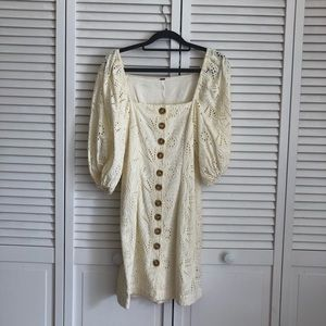 Romantic Eyelet Summer Dress By Free People